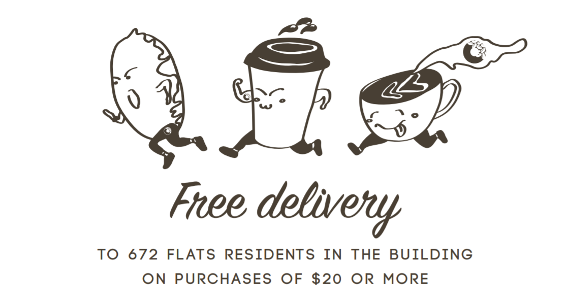 Free delivery for 672 Flats residents