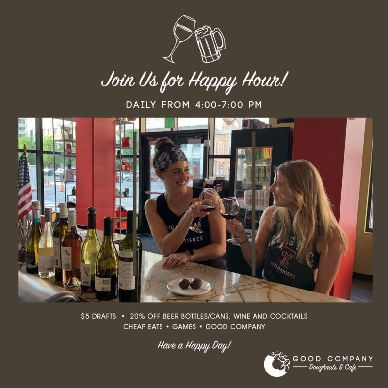 Happy Hour, Daily from 4-7
