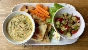 Hummus and Vegetable Plate