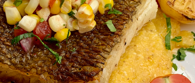 Halibut and Corn Salsa