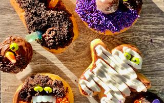 Halloween Doughnuts - BOO!