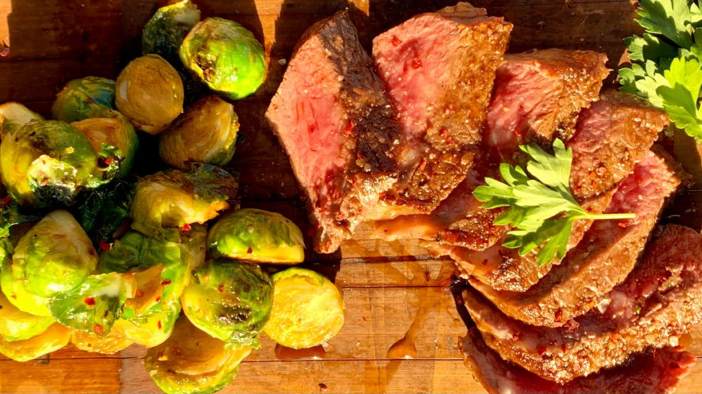 Prime NY Strip Steak & Sprouts