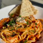 Spicy Garlic Shrimp & Bucatini