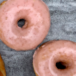 Strwberry glazed doughnuts