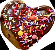 heart shaped doughnut