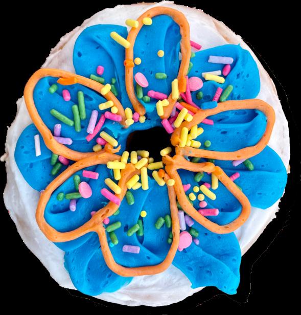 decorated doughnut