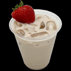 strawberry chai latte drink